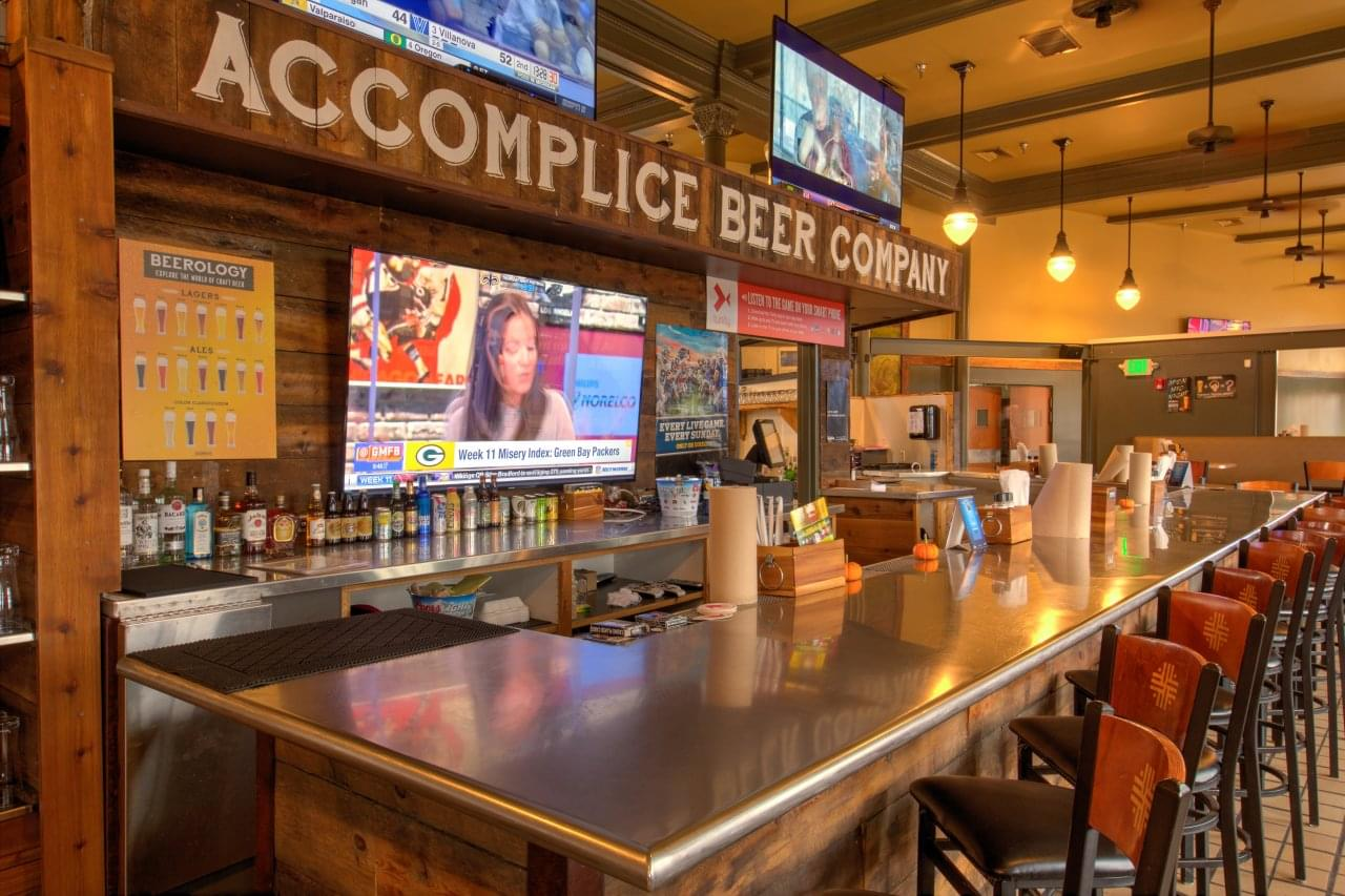 accomplice beer company cheyenne wy brewery bar counter google business view interactive. Black Bedroom Furniture Sets. Home Design Ideas