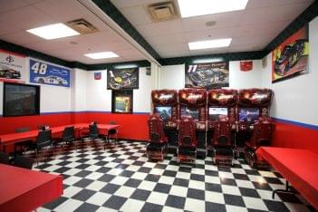 Karts Indoor Raceway Lake Ronkonkoma, NY go-kart track party room