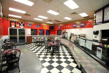 Karts Indoor Raceway Lake Ronkonkoma, NY go-kart track rest stop cafe