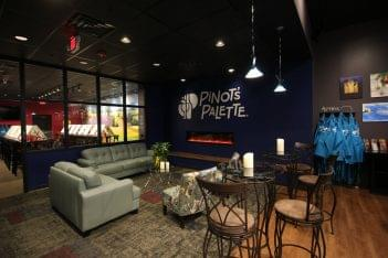 Pinot's Palette Collegeville PA wine and painting lounge sitting area