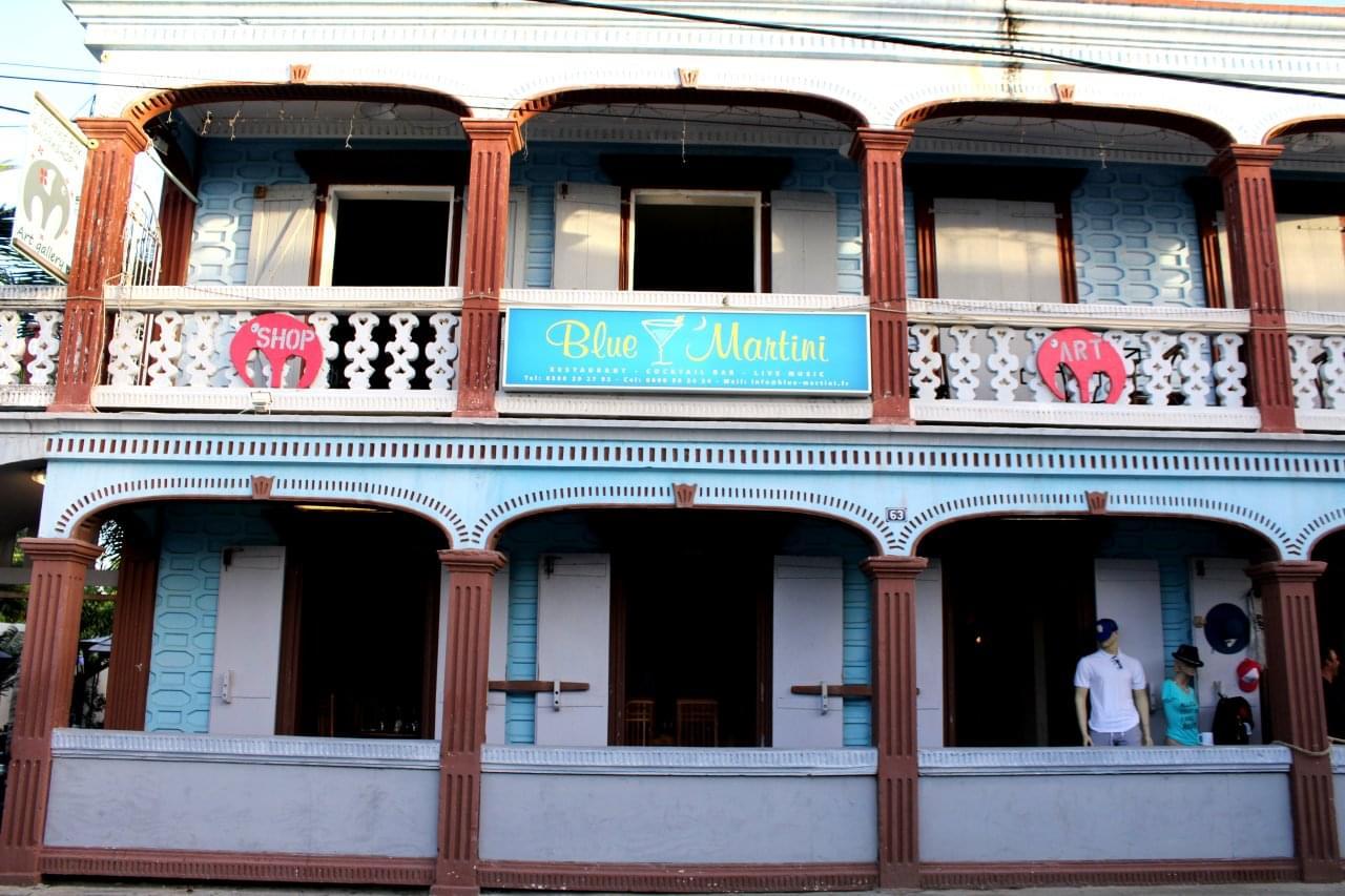 Blue Martini Steakhouse Grand Case Saint Martin restaurant balcony