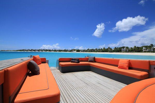 Boat Charter St Maarten by SEVEN MARINE lagoon deck seats