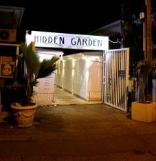 Hidden Garden Grand Case Saint Martin restaurant front entrance