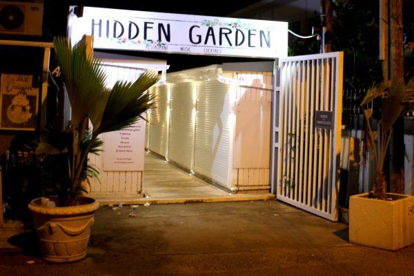 Hidden Garden Grand Case Saint Martin restaurant front entrance
