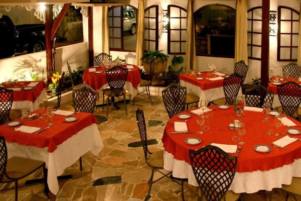 La Villa Restaurant Grand Case Saint Martin dining area