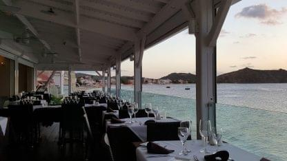 Ocean 82 restaurant in Grand-Case, Saint Martin patio view