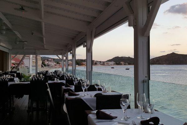 Ocean 82 restaurant in Grand-Case, Saint Martin patio view