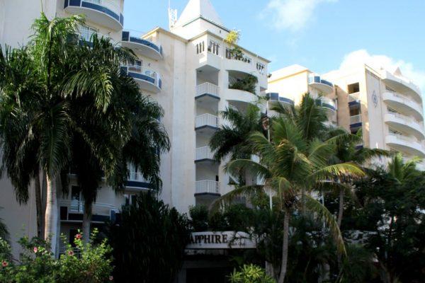 Sapphire Beach Club & Resort Cupecoy Sint Maarten hotel front entrance