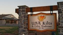 USA Kilts Spring City PA sign