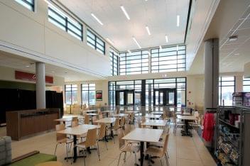 Atlantic City Service Area Galloway, NJ Rest Stop tables