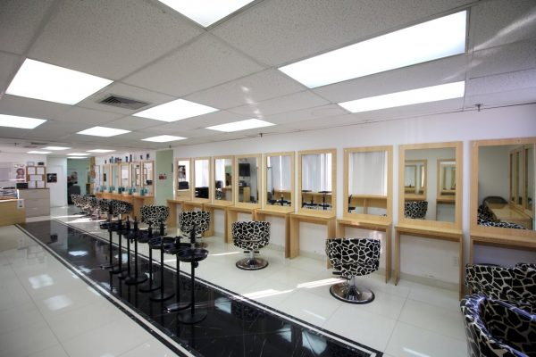 Christine Valmy Pine Brook, NJ Beauty School make-up stations