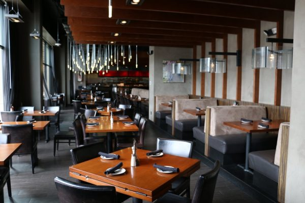 Del Frisco's Grille Houston, TX Steakhouse Restaurant dining tables