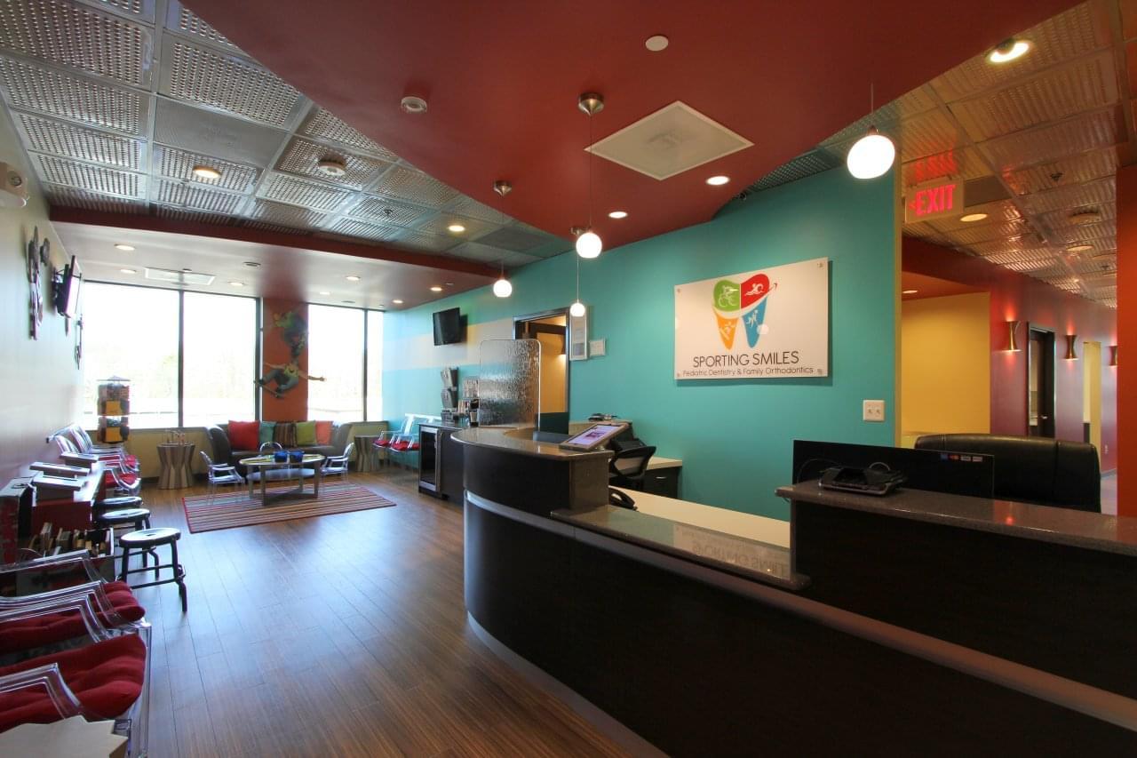 Sporting Smiles Pediatric Dentistry & Family Orthodontics Gainesville, VA front desk reception