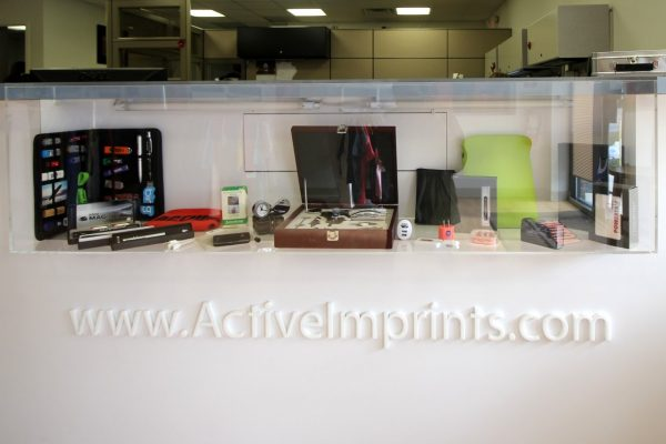 Active Imprints Monmouth Junction, NJ Promotional Products Supplier display