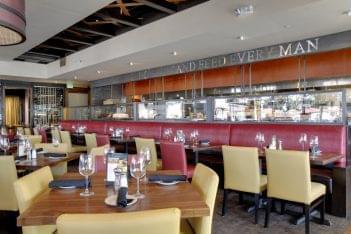 Del Frisco's Grille Santa Monica, CA Steak House Restaurant dining area