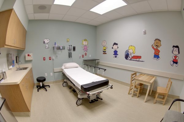 Concho Valley ER 24 7 Emergency Center San Angelo, TX exam room snoopy peanuts decal