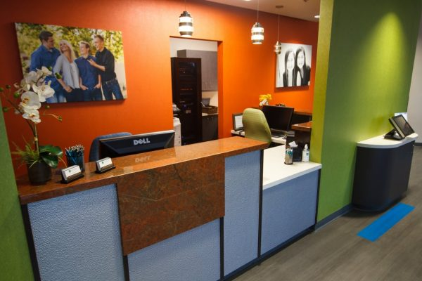 Nalchajian Orthodontics Clovis, CA Dental Office reception front desk