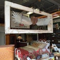 The Bent & Rusty Cotton Co. Laramie, WY Antique Furniture Store heart wings bed