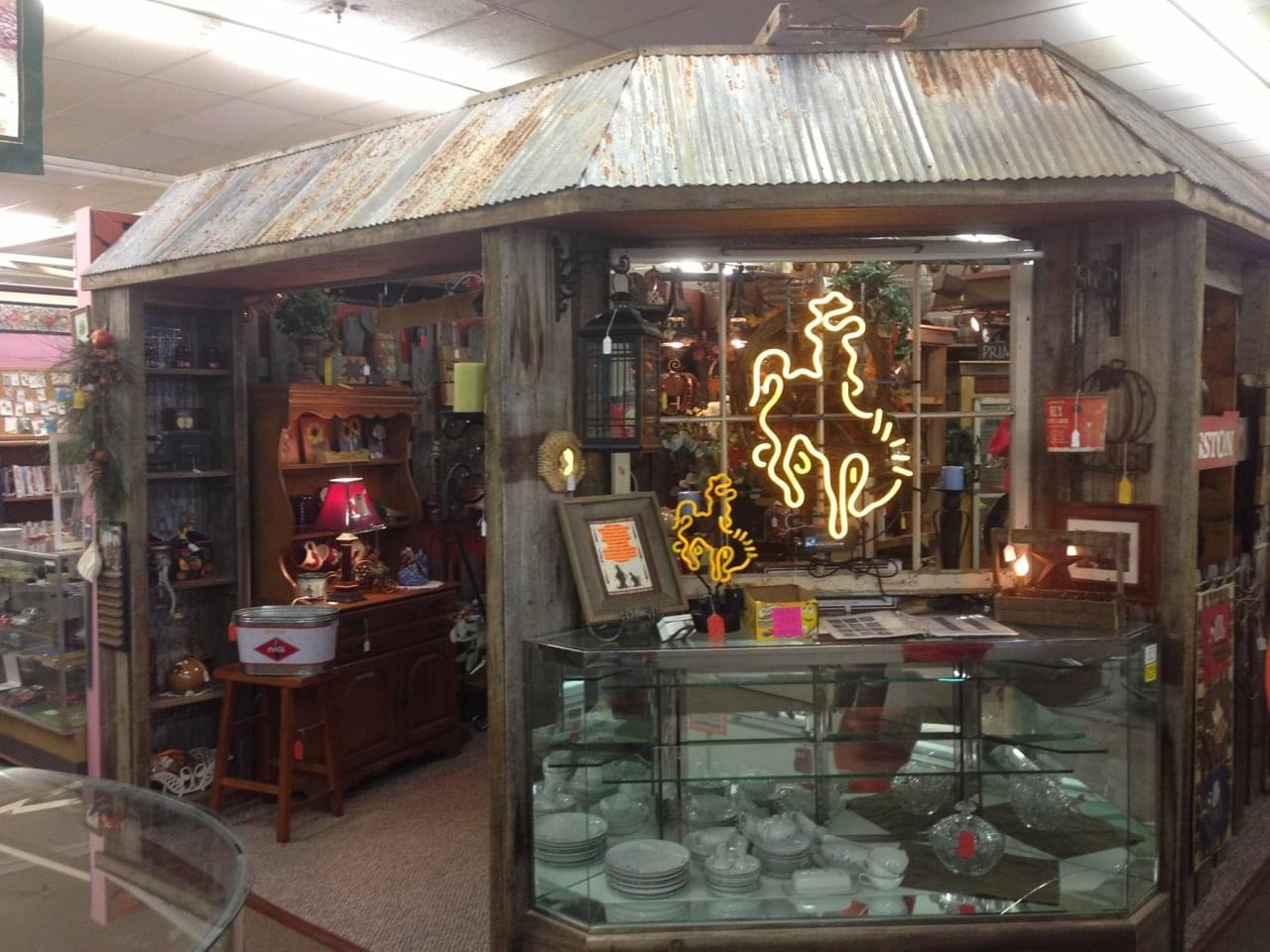 cupboard rusty co horse wy furniture cotton the neon inside store cowboy bent laramie bucking portfolio see stores antique