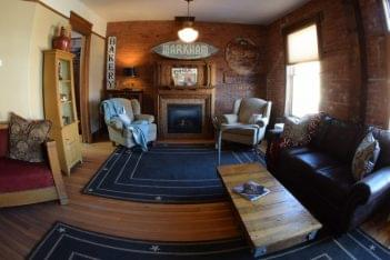 The Mercantile Loft Laramie, WY Bed & Breakfast living room