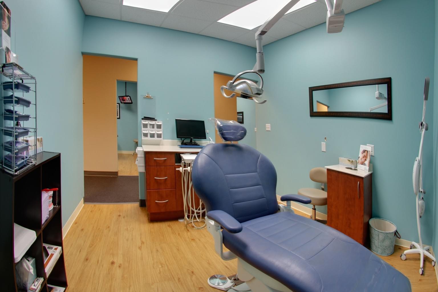 dental studio buda tx exam room with dentist chair