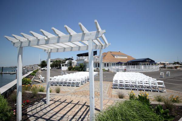 Yacht Club of Stone Harbor NJ wedding ceremony setup