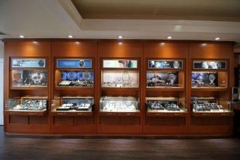 Adlers Jewelers Westfield, NJ Jewelry Store interior display watches