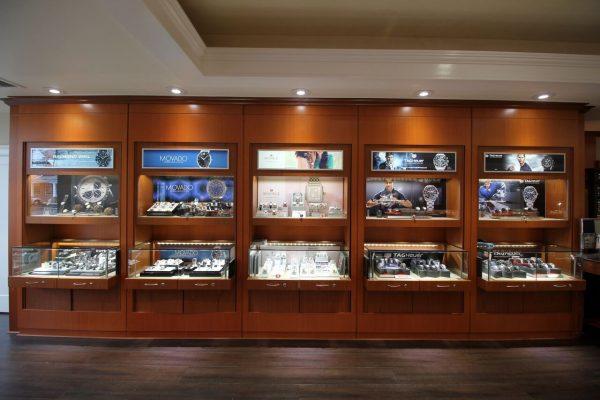 Adlers Jewelers Westfield, NJ Jewelry Store interior display watches