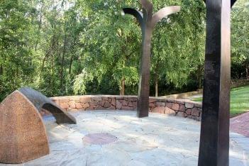 African American Heritage Memorial Park Alexandria, VA standing monuments
