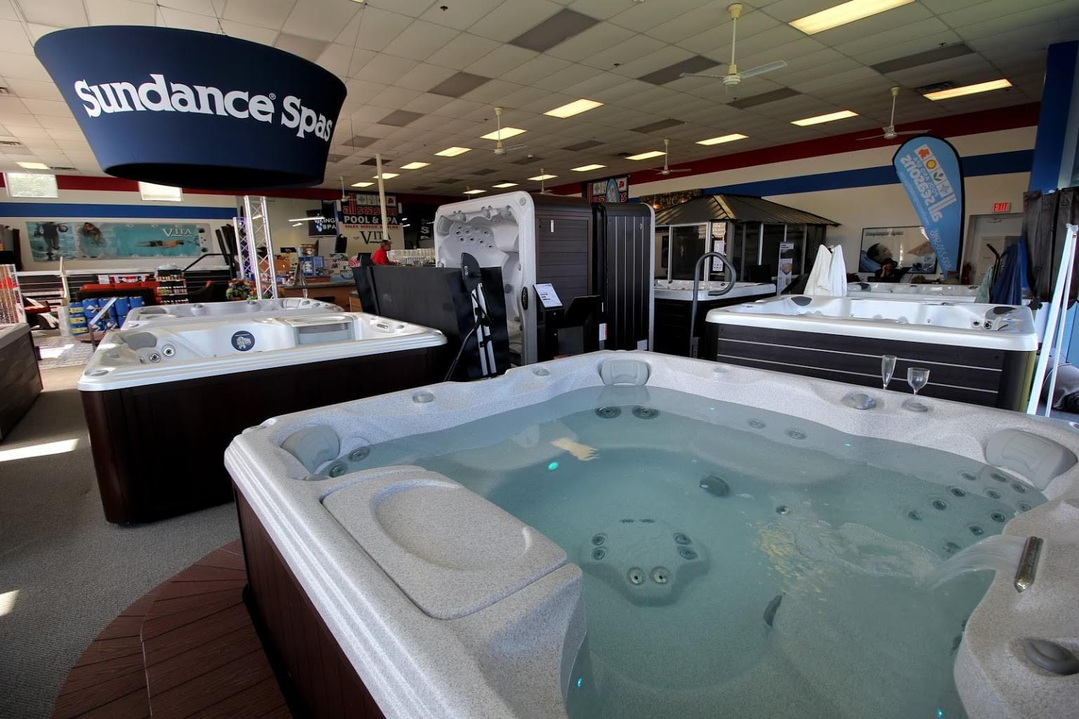 to dealers what showroom on have tub our store customers hot barrie tubs jacuzzi dealership say ontario in