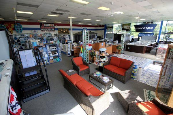All Seasons Pool & Spa Marlton, NJ Hot Tub Store interior