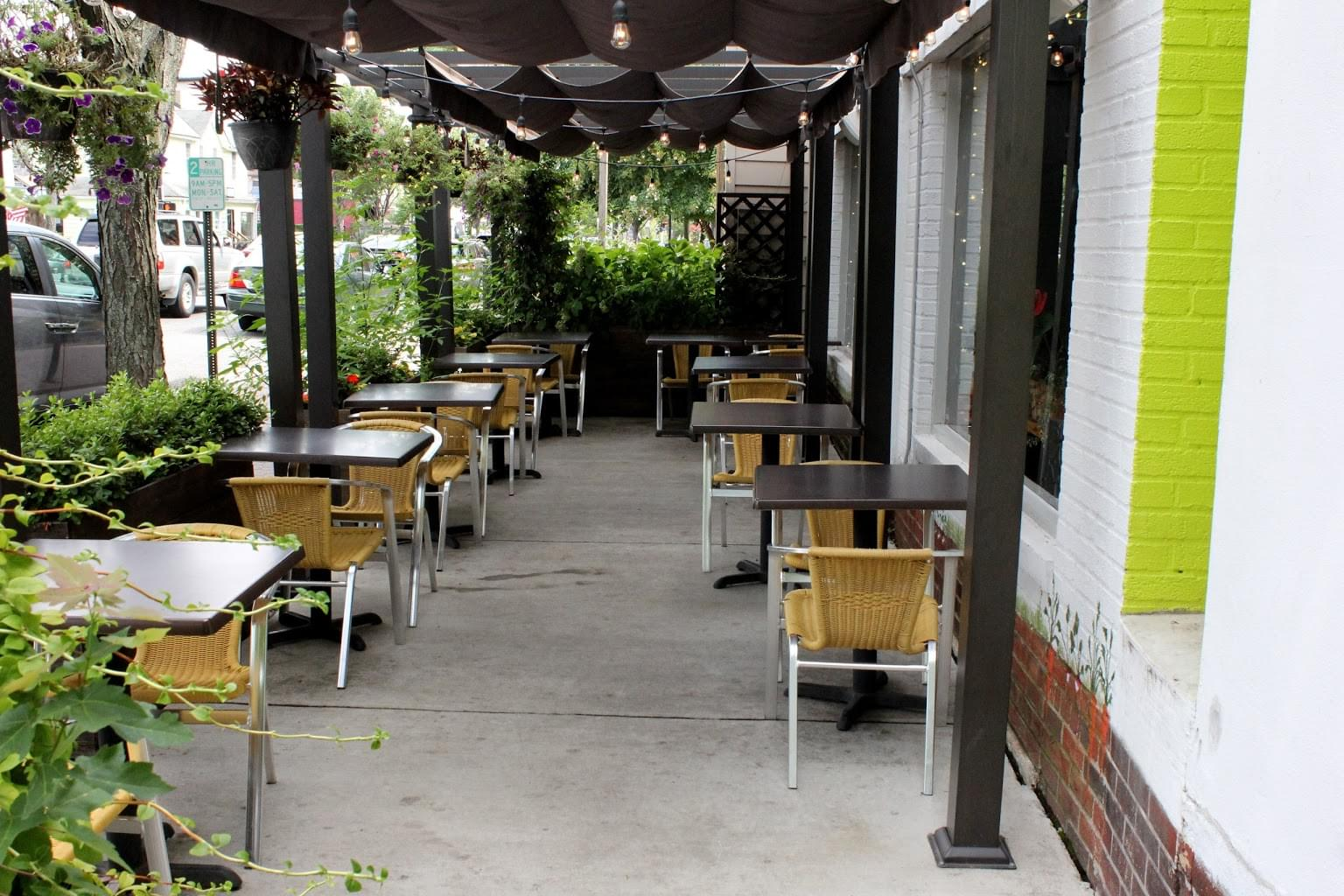 Bon Vivant Cafe + Farm Market Alexandria, VA Cafe outdoor tables