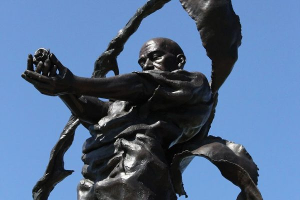 Contrabands and Freedmen Cemetery Alexandria, VA Historical Landmark statue
