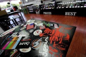 Good Guy Vapes Rockaway, NJ Vaporizer Store table top stickers