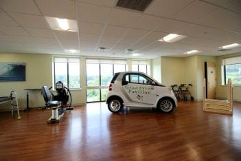 Homestead Rehabilitation and Health Care Center Newton, NJ Rehabilitation Center physical therapy room smart car