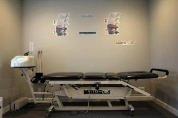 Rehab 2 Wellness Chiropractic Havertown, PA Chiropractor table