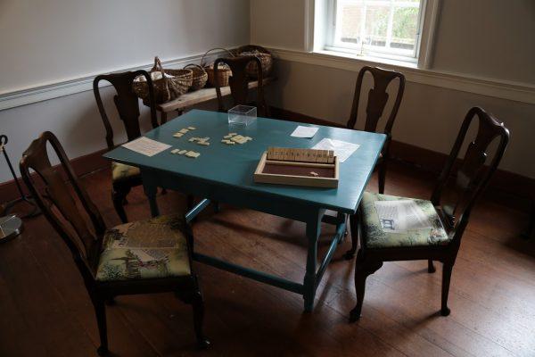 Gadsby's Tavern Museum Alexandria, VA History Museum game table