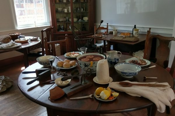 Gadsby's Tavern Museum Alexandria, VA History Museum meal food table