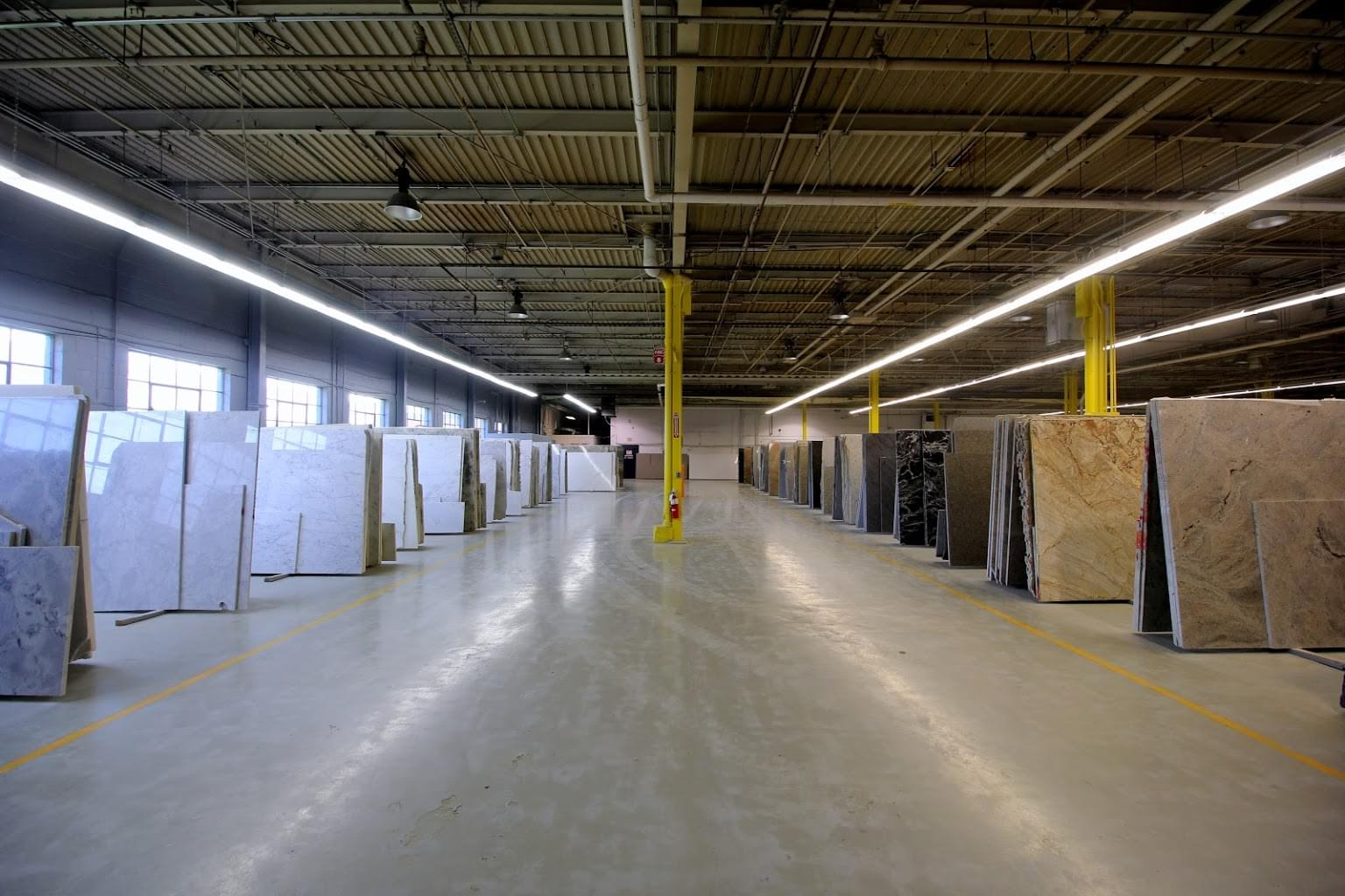 Granite Kitchen & Bath Clifton, NJ Granite Supplier warehouse display