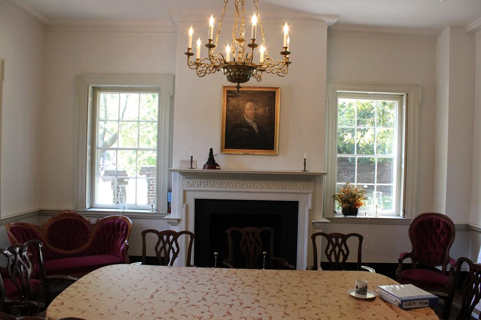Lloyd House Alexandria, VA Historic building dining room