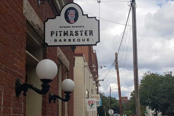 Myron Mixon's Pitmaster Barbeque Restaurant Alexandria, VA sign
