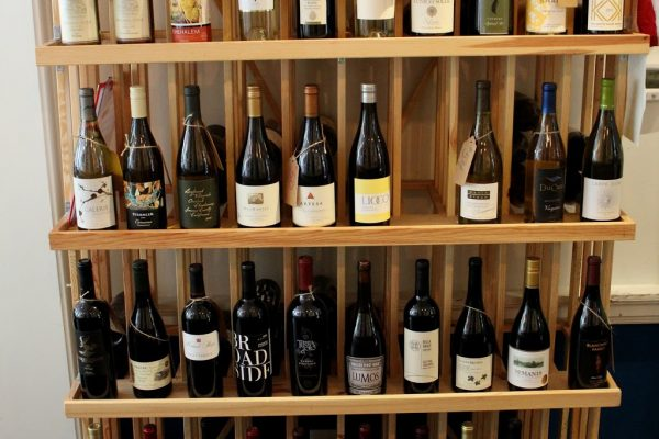 Sonoma Cellar Alexandria, VA American Restaurant wine bottles rack