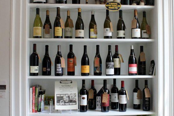 Sonoma Cellar Alexandria, VA American Restaurant wine bottles shelf