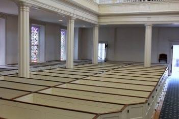 St. Paul's Episcopal Church Alexandria, VA pews