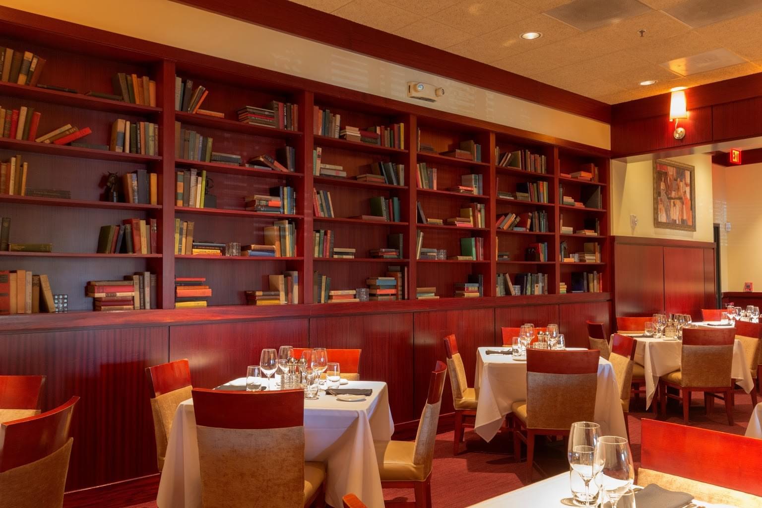 Sullivan's Steakhouse Leawood, KS Steak House Restaurant book shelf
