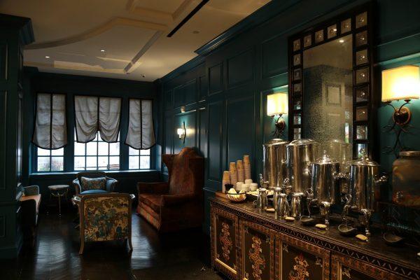 The Alexandrian, Autograph Collection Alexandria, VA Hotel lobby tea coffee station