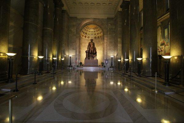 The George Washington Masonic National Memorial Alexandria, VA statue