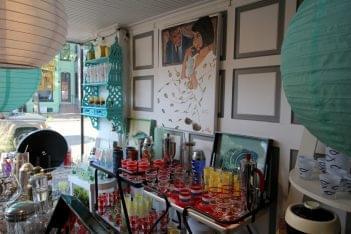 The Hour Alexandria, VA Antique Store display