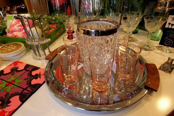 The Hour Alexandria, VA Antique Store glass set
