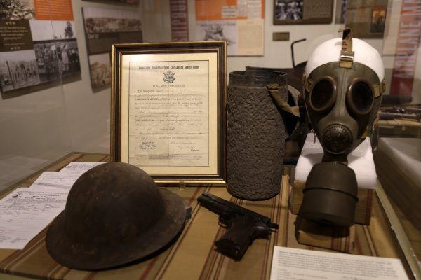 The Lyceum Alexandria, VA History Museum wwi gas mask pistol helmet